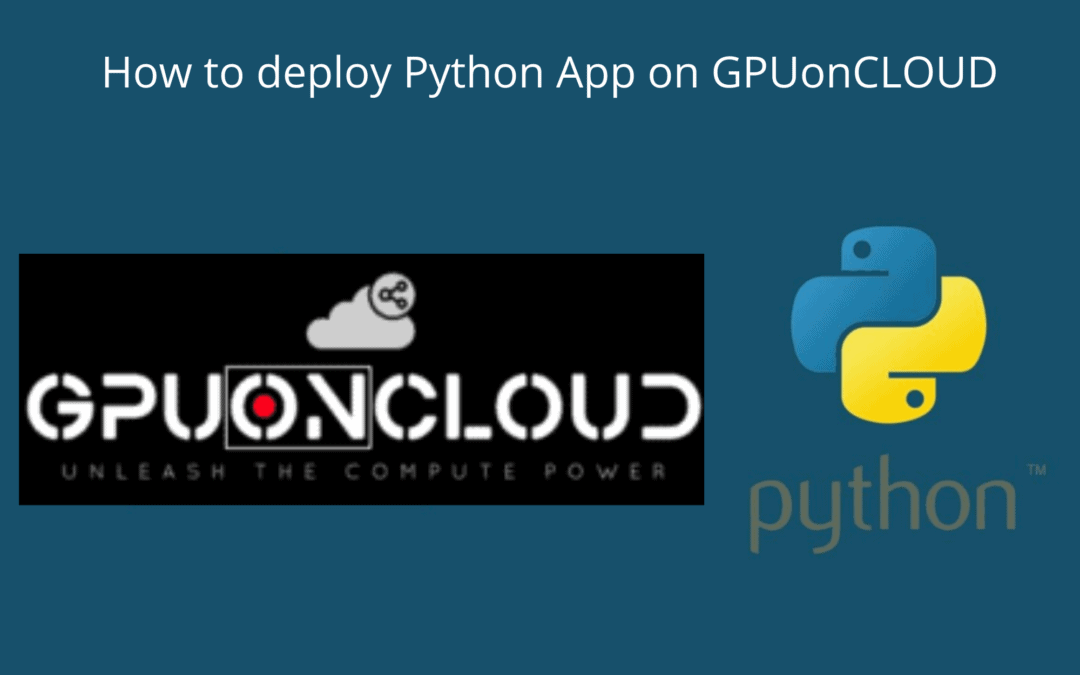 Upload and Deploy Your Python Application